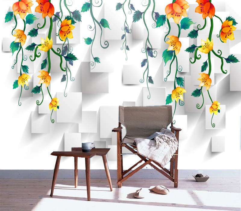 Vintage Magnolia 3D Full Wall Mural Photo Wallpaper Printing Home Kids Decor