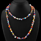 LONG 35 INCHES -  225.00 CT NATURAL MULTICOLOR GEMSTONE BEADS NECKLACE - GEM EDH