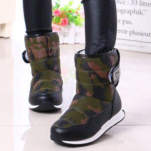 57e9472a4dcec0 kids boys girls Winter snow boots Waterproof fleece lined Warm Non ...