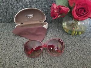 60cb5a395a156 Image is loading COACH-Authentic-Burgundy-Women-s-Sunglasses-with-Case-