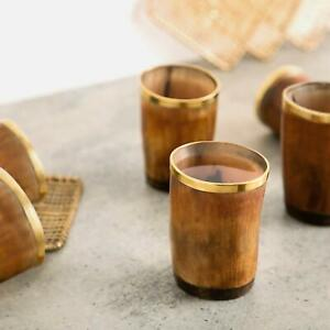 Viking-Drinking-Horn-Shot-Glass-Set-Of-6-Authentic-Medieval-Beer-Tankard-GIFTS