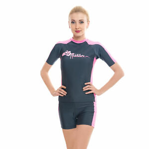 Women Rash Guard Ladies Two Piece Swimsuits Bathing Suits Swimwear ... 631e7eb67