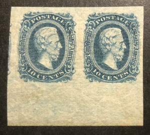 TDStamps: US Confederate States CSA Stamp Scott#11 Mint NH OG LH in Margin, Pair