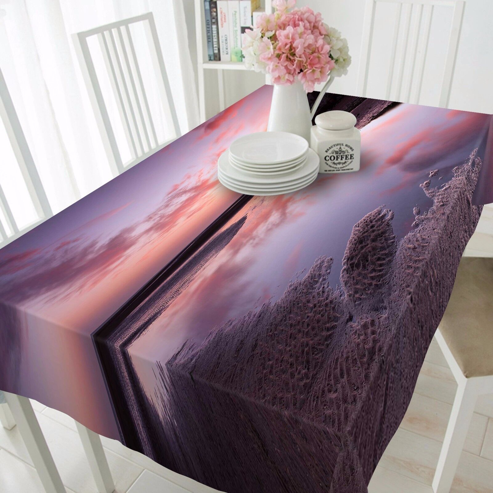 3D River 57 Tablecloth Table Cover Cloth Birthday Party AJ WALLPAPER UK Lemon