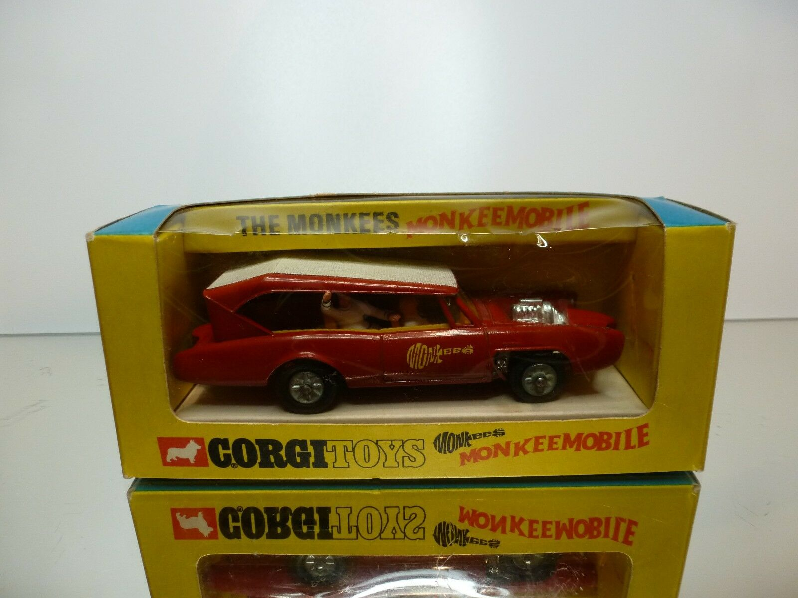CORGI TOYS 277 MONKEEMOBILE - THE MONKEES  - RED 1 43 RARE - VERY GOOD IN BOX