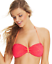 California-Waves-Women-039-s-Crochet-Bandeau-Bikini-Top-Coral thumbnail 1