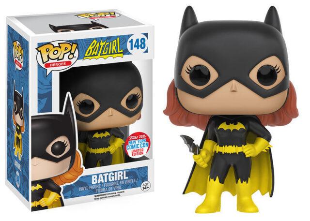 Exclusivo Nycc Dc Batgirl 9.5cm Pop Heroes Figura de Vinilo Funko 148