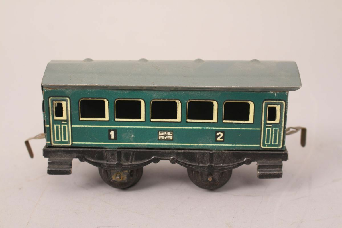 Hwn Heinrich Wimmer Wagon Passenger Cars Railway Us Zone Toy Tin Toy
