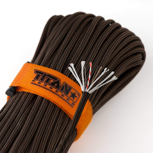 Titan SurvivorCord Paracord with Integrated Fishing Line and Fire-Starter Tinder