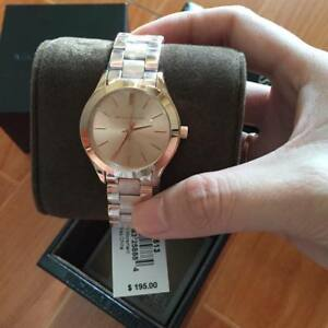 94fee13db Details about Michael Kors Mini Slim Runway Rosegold-tone Ladies Watch 33mm