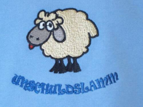 * innocenza agnello Ricamato Bambini SW BLU 86 a 128