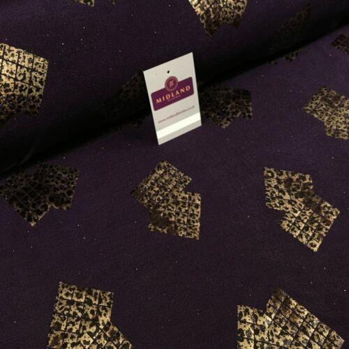 Piel De Serpiente Imprimir Vestido Elástico Jersey caritativa Tela Brillo 150 cm de ancho MR1075 mTEX