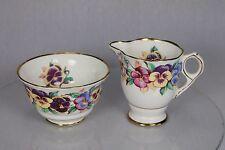 Vintage Royal Stafford English Bone China 1843 Milk Cream Jug & Sugar Bowl dish