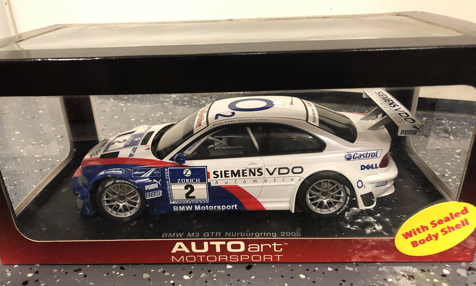 Autoart 13634 Bmw M3 Gtr 2 24 Hrs Nurburgring 2005 Slot Car 1 32 For Sale Online Ebay