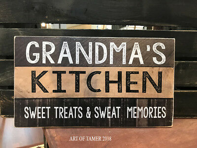 MADE IN USA NANA/'S KITCHEN wood SIGN 8X12 inches