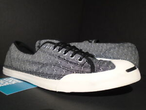CONVERSE JACK PURCELL JP LP L S OX BLACK WHITE GREY ALL-STAR KITH ... a2b3329ed