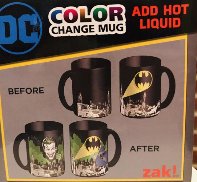 New Zak DC Batman Super Hero Large 15oz Color Changing Ceramic Coffee Mug
