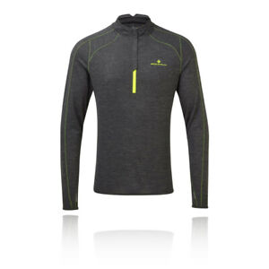 RonHill-Mens-Stride-Thermal-1-2-Zip-Top-Grey-Sports-Running-Half-Breathable