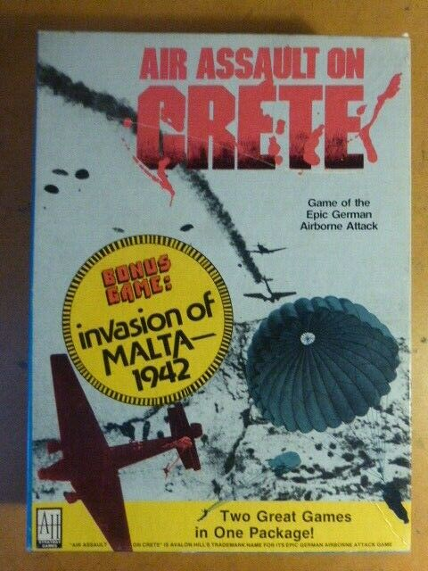Aire asalto en Creta ENLOMADOR Avalon Hill Hill Hill Segunda Guerra Mundial Tablero wargame  muchas concesiones
