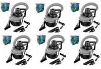 Lot Of 6 Dc 12 Volt Mini Portable Vacuums Cleaner Auto Car Portable Wet / Dry