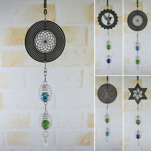 3D Metal Hanging Wind Spinner Wind Chime Windchime Crafts Yard Home Decor Winds