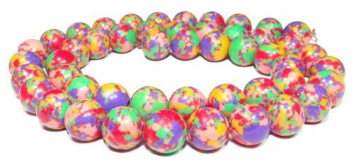 4 Coloré pierre-composition perles coloré boules 8 mm strang cloi
