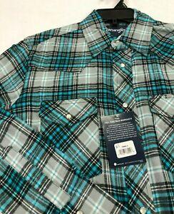 Wrangler-Men-039-s-Lightweight-Flannel-Shirts