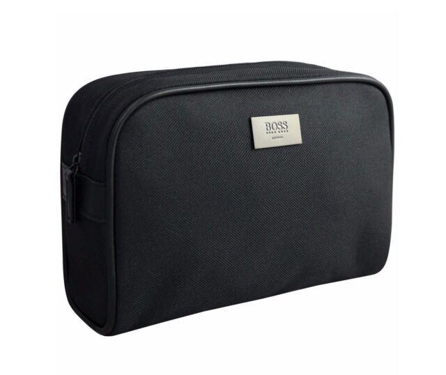 Hugo Boss Mens Toiletry Bag Shaving Kit Travel Pouch Black Last One