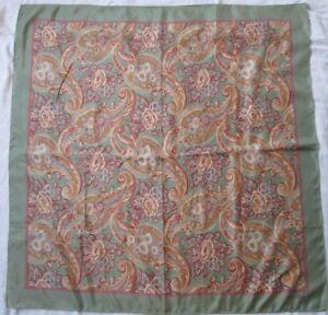 656f53ceaa2f Joli foulard Ralph Lauren soie vintage scarf - 90 cm x 90 cm     eBay