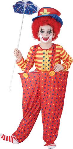 Kids Fancy Club Party Celebration Week Day Boys Circus Clown Hoop Costume UK