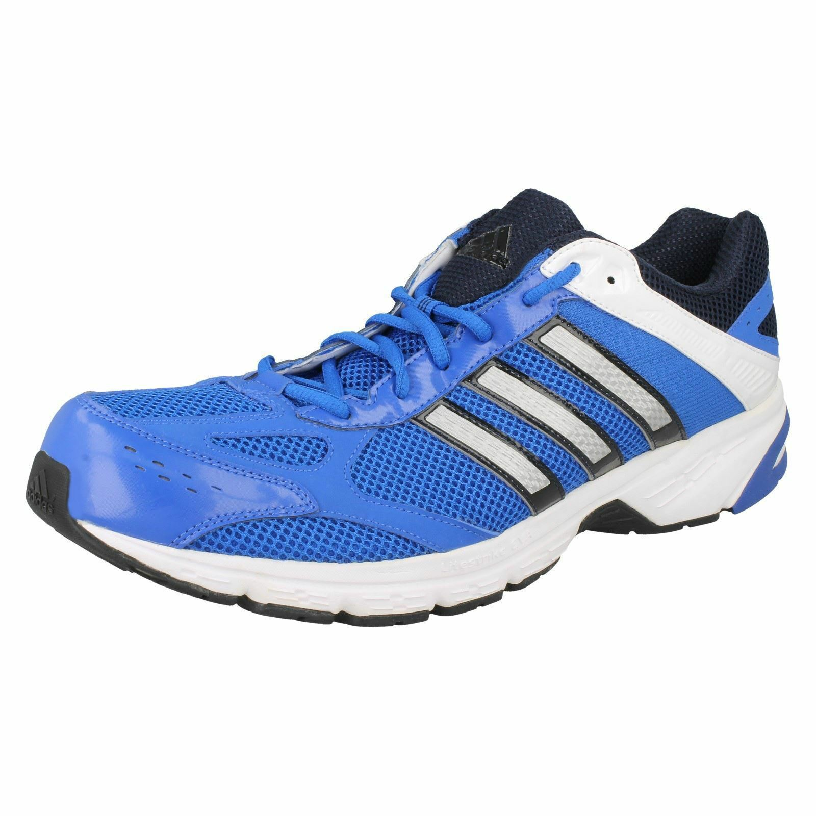 Mens bluee White Black Lace Up Adidas Running Trainers Duramo 4M