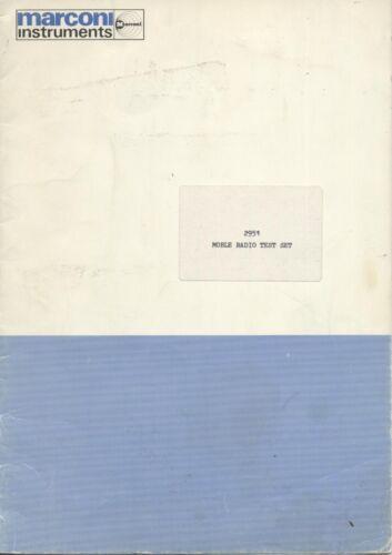 Marconi 2951 Operating Manual PDF Format