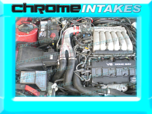 RED 91-99 3000GT GTO//DODGE STEALTH VR4 3.0L TWIN TURBO AIR INTAKE Y PIPE