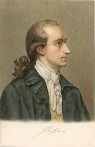 Details About Johann Wolfgang Von Goethe Original Vintage Litho Postcard