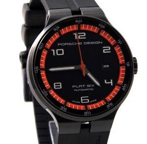 Porsche-Design-Flat-Six-P-039-6350-Automatik-Uhr-Datum-Edelstahl-UVP-2-990-gt-gt-NEU