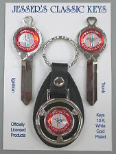 Mustang Pony Red & White Deluxe Classic White Gold Key Set 1988 1989 1990 NOS