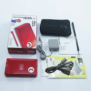 Brand-New-Super-Mario-M-Red-Nintendo-DS-Lite-HandHeld-Console-System-gifts
