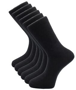 6-Pairs-Mens-Cotton-Dress-Socks-Black-Classic-Business-Casual-Sock-Size-XL-13-15