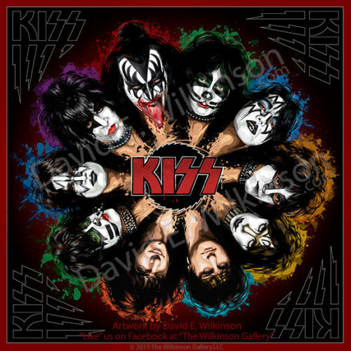 "KISS ""Komplete KISStory"" Art Giclee' Album Poster Print by David E. Wilkinson"