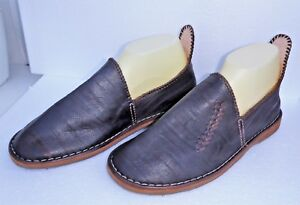 BEST-QUALITY-MOROCCAN-LEATHER-BABOUCHE-Slippers-DARK-BROWN-8-42