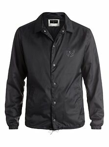 2eb16ce9f Image is loading Quiksilver-Always-Surfing-Coach-Black-Coats-amp-Jackets-