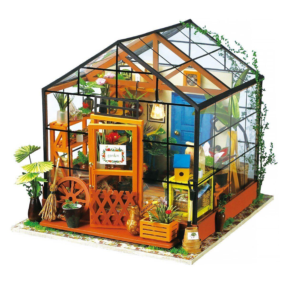 ROBOTIME Casa Delle Bambole in Legno, Casa Fai DaTe Con Luci e Accessori,  N9q