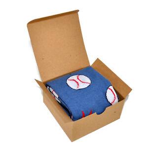 Image is loading Men-039-s-Socks-Gift-Box-Baseball-Novelty-