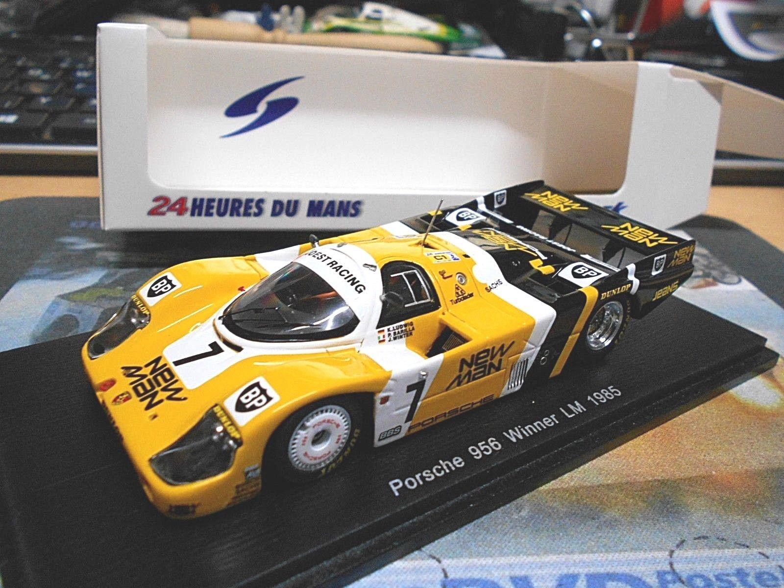 PORSCHE 956 L Le Mans 1985 New Man Joest Ludwig 7 Winner vainqueur Resin Spark 1 43