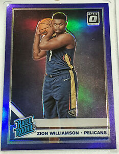 2019-20-Panini-Optic-Zion-Williamson-Purple-158-Pelicans-RC-Rated-Rookie