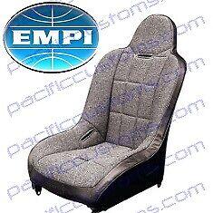 Empi 62-2750-7 Race Trim Hi-Back Seat Cover Only - Grey Cloth/Black Vinyl |  eBay