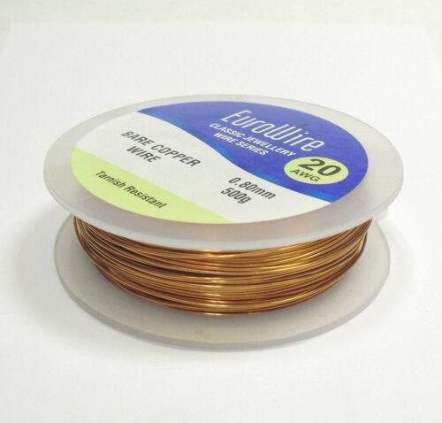 0.90mm Diámetro de 500 gramos-no deslustre de alta calidad Alambre de cobre Joyería