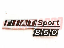 SCRITTA RIVESTIMENTO POSTERIORE FIAT 850 SPORT COUPE SPIDER CROMATA ORIGINALE