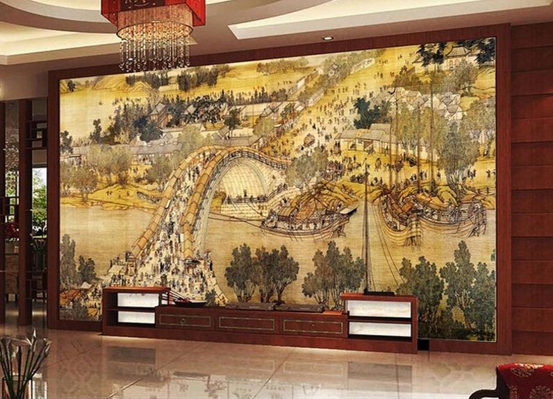 3D Bridge Paint 457 Wallpaper Murals Wall Print Wallpaper Mural AJ WALL UK Lemon