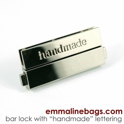 /'handmade/' lettering clasp for bag making Large Bar Lock by Emmaline Bags